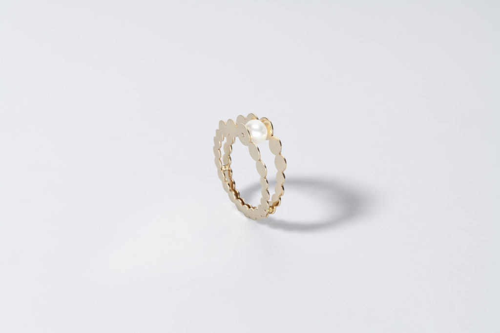 18KT yellow gold pearl ring, akoya pearl - Entre Nous