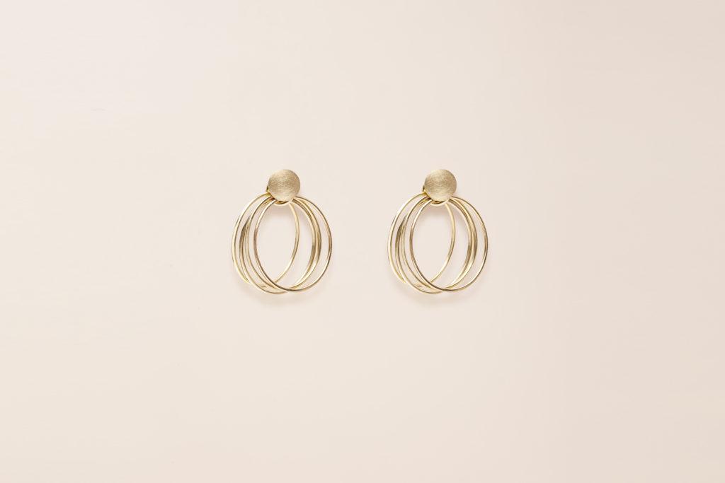Triple hoop earrings in 18KT yellow gold - Ear-Rings