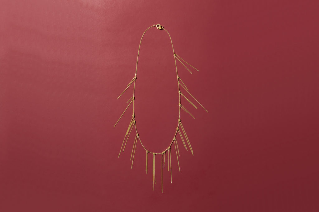 Fringe necklace in 18KT yellow gold - Frange