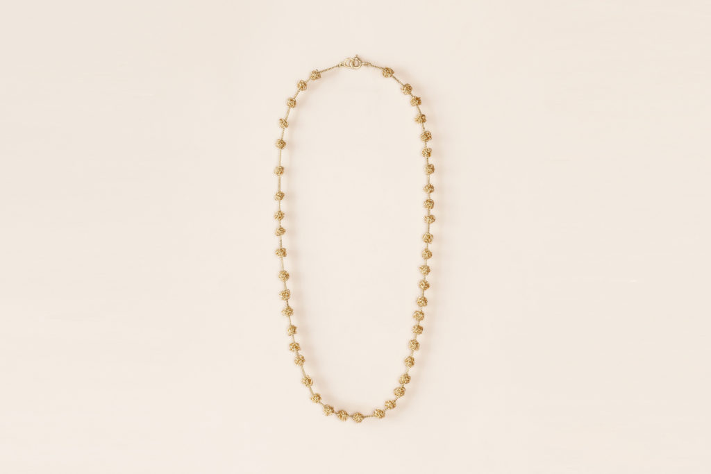 Short necklace with freshwater pearls - 18KT Yellow Gold – Gomitolini