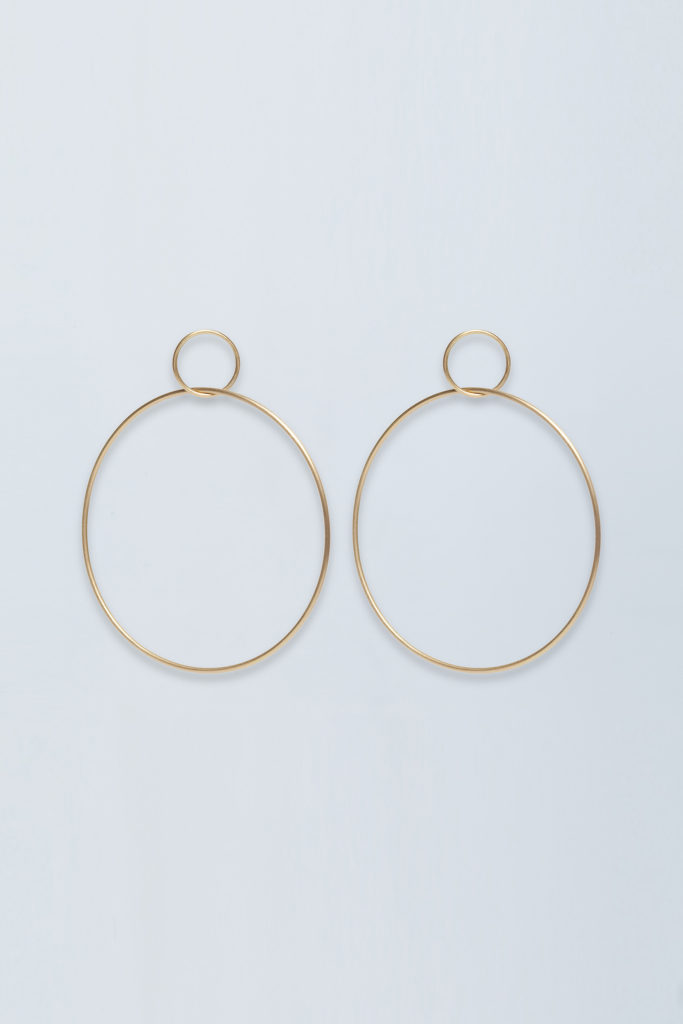 Large 18KT yellow gold hoop earrings - Grande Cerchio