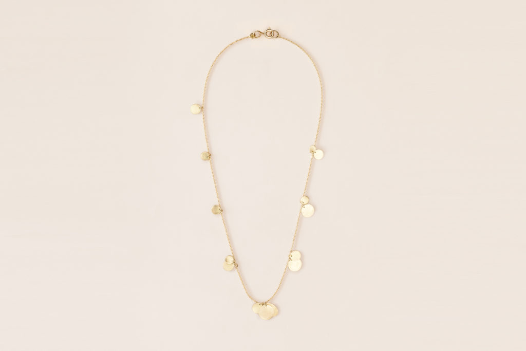 18KT yellow gold necklace with pendants – Piani