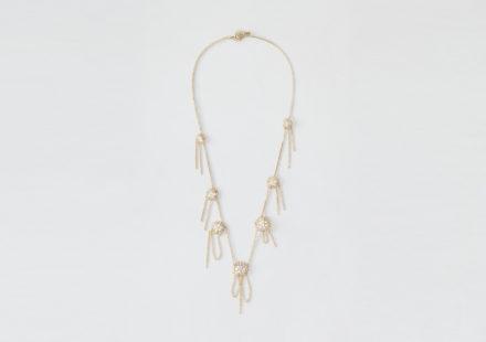 Collana a girocollo in oro giallo 18KT e perle di acqua dolce – Teodolinda N