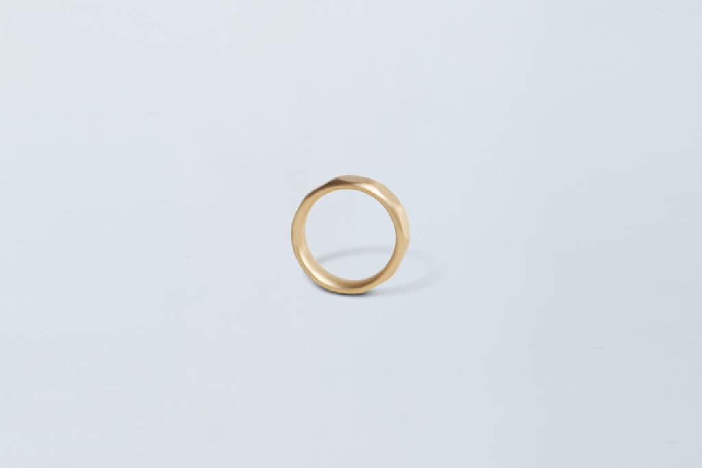 18KT yellow gold wedding ring - Pois