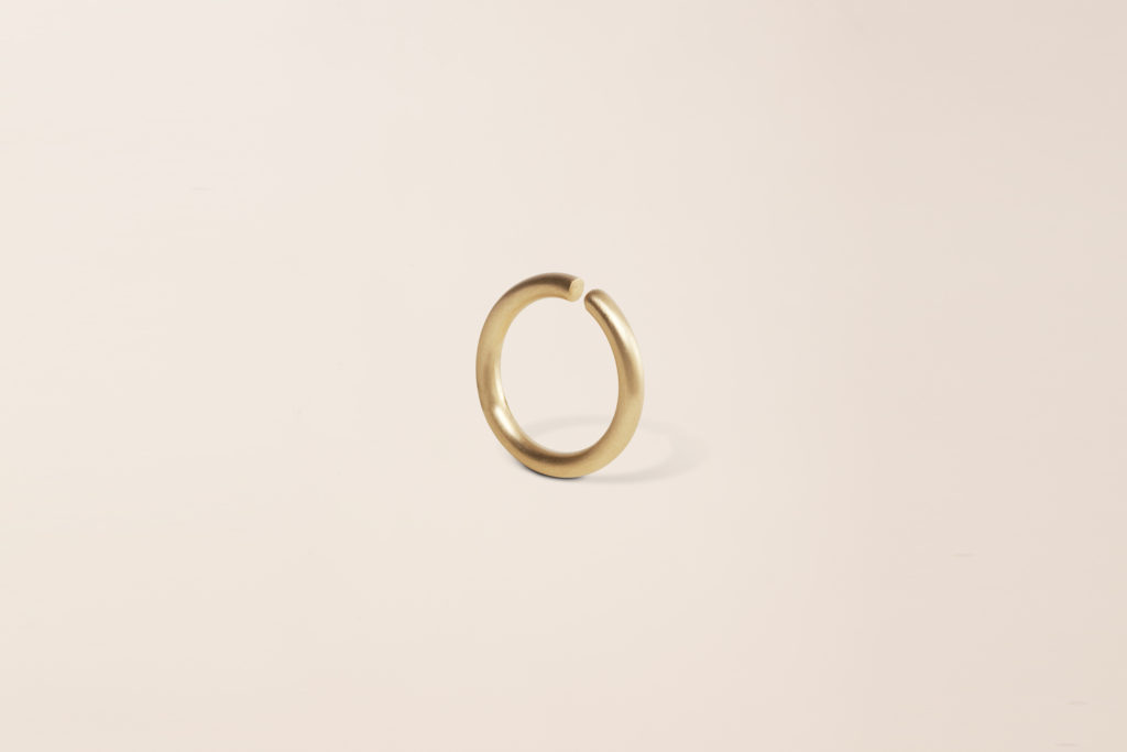 18KT yellow gold wedding ring – Round